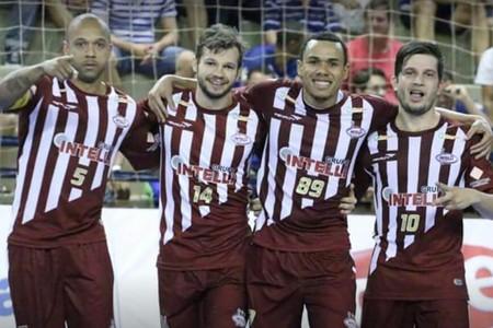 Ciço, Guina, Dieguinho e Cabreúva, jogadores do Orlândia (Foto: Márcio Damião / ADC Intelli)