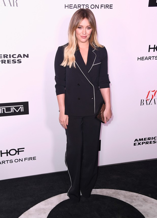 Hilary Duff em evento em Los Angeles, nos Estados Unidos (Foto: Frazer Harrison/ Getty Images/ AFP)