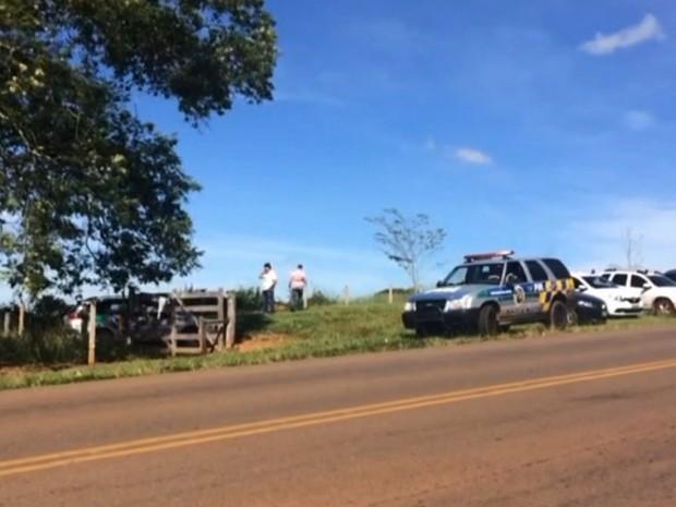 Corpo da menina Ana Clara Camargo foi encontrado na zona rural de Santo Antônio de Goiás (Foto: Reprodução/TV Anhanguera)