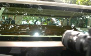 Caixão de Chorão (Foto: Iwi Onodera / EGO)