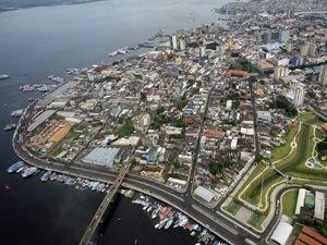 Vista aérea da cidade de Manaus (Foto: Clóvis Miranda/Semcom)