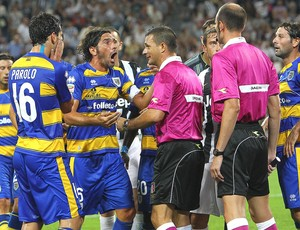 Reclamação Juiz, Juventus x Parma (Foto: Agência Getty Images)