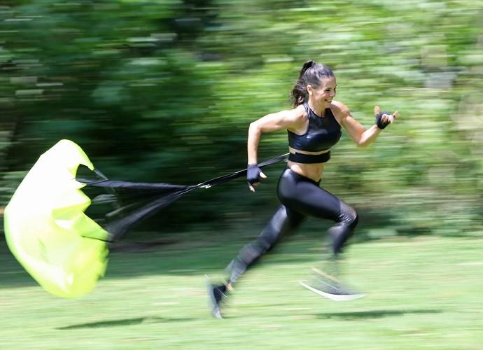 Mylla faz exercício três vezes por semana (Foto: Carol Caminha/Gshow)