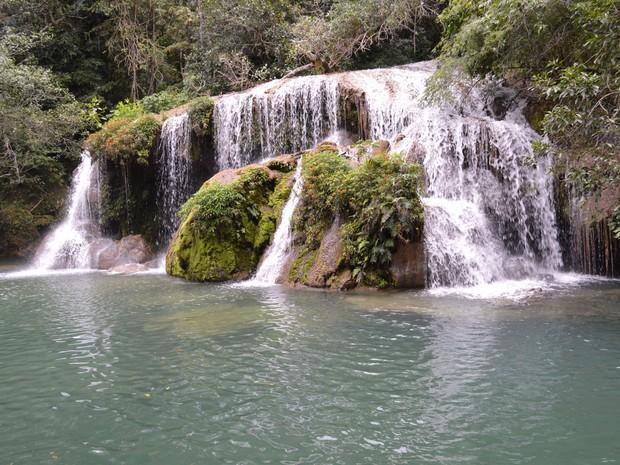 Atrativo oferece ao turista a oportunidade de conhecer e tomar banho nas cachoeiras do rio Mimoso, em Bonito (Foto: Anderson Viegas/G1 MS)