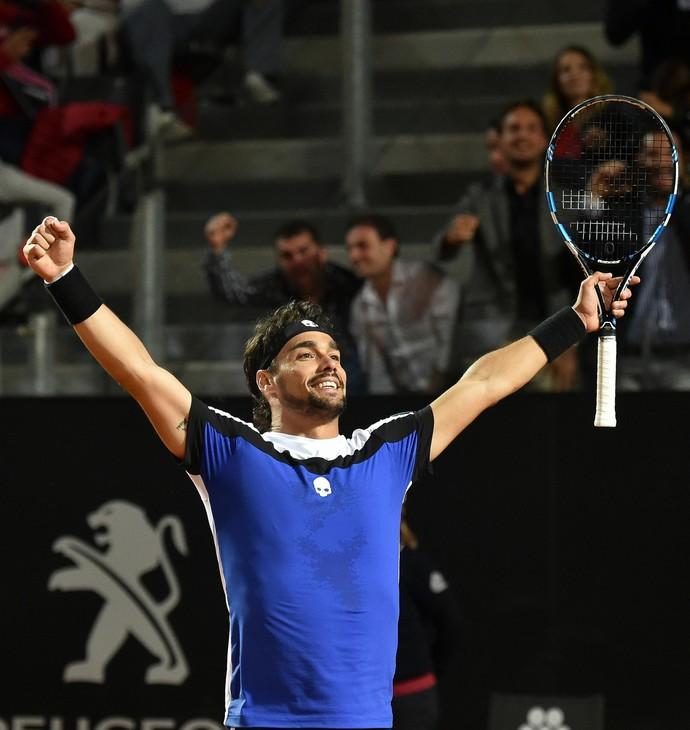Fabio Fognini vence Andy Murray no Masters 1000 de Roma (Foto: ANDREAS SOLARO / AFP)