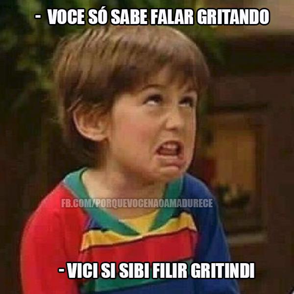 Meme brasileiro 'Por que você não amadurece?'