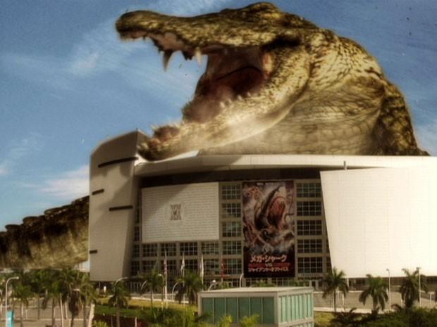 Cena de 'Mega shark vs. crocosaurus' (Foto: Divulgação)
