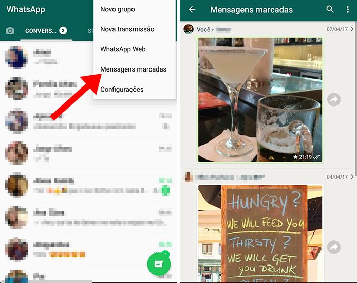 WhatsApp permite criar lista de coisas importantes (Foto: Reprodução/Paulo Alves)