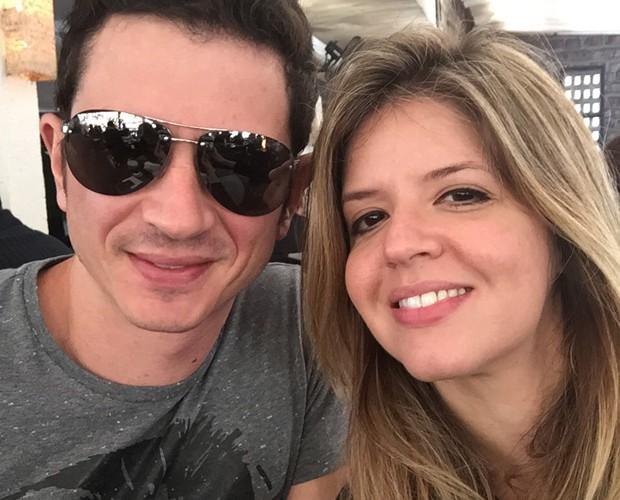 Mariana Santos e o namorado Rodrigo Velloni (Foto: Arquivo Pessoal)