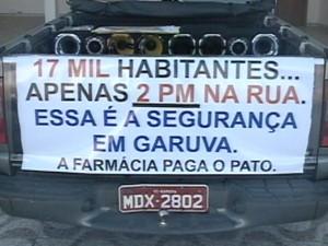 Pessoas cobram mais investimentos em segurança na cidade de Garuva (Foto: Reprodução RBS TV)