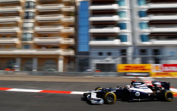 pastor maldonado williams gp de mônaco (Foto: Agência Getty Images)