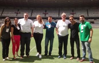 Alemães visitam Mineirão e elogiam estrutura do estádio para Olimpíadas
