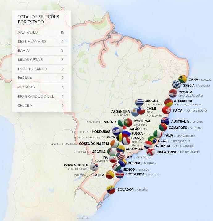 Oficial: COL anuncia locais de treinos das seleções para a Copa do Mundo