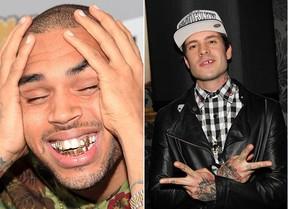 Chris Brown e Mateus Verdelho  - Grillz (Foto: Agência Getty Images - Thiago Duran / AgNews)