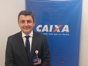 Ederson Negri, superintendente da Caixa Econômica no Amapá (Foto: John Pacheco/G1)