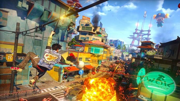 Sunset Overdrive traz visual colorido e ação frenética aos jogos grátis do Xbox One em abril (Foto: Reprodução/Destructoid)