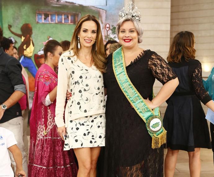 Convidada com a apresentadora Ana Furtado (Foto: Fábio Rocha/Gshow)