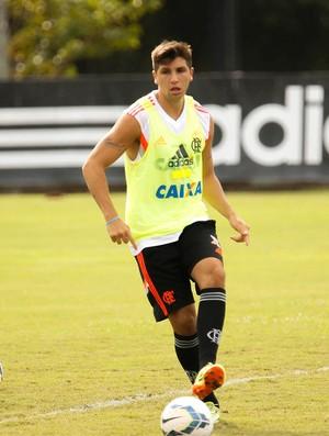 Lucas Mugni flamengo treino (Foto: Gilvan de Souza / Flamengo)