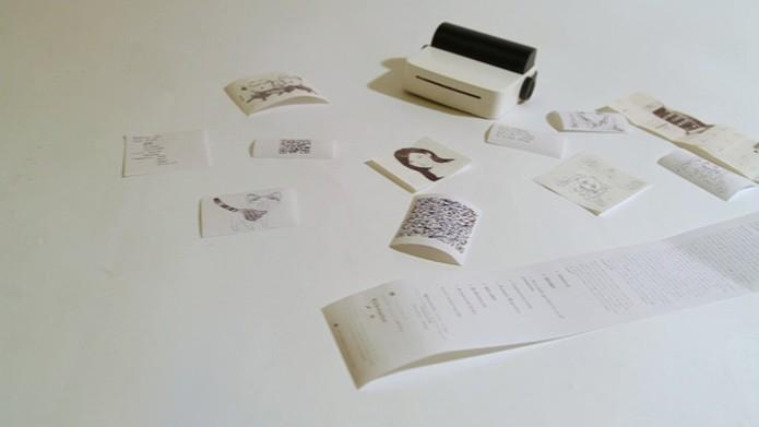 Impressora usa papel térmico e dispensa tinta (Foto: Reprodução/Kickstarter)