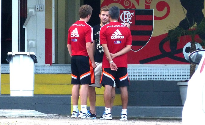 Thomás no treino do Flamengo (Foto: Thiago Benevenutte)