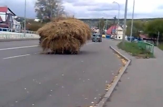 Condutor fgoi flagrado dirigindo por estrada movimentada. (Foto: Reprodução)