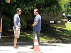 Leandro Hassum e Thiago Rodrigues gravam cenas de 'A Cara do Pai'
