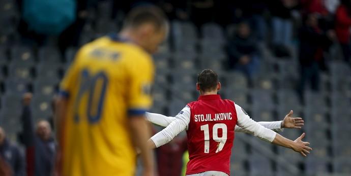 Nikola Stojiljkovic Braga x Benfica (Foto: Reuters)
