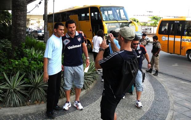 Fred desembarque Fluminense (Foto: Nelson Perez / Fluminense F.C.)
