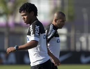 Romarinho e Emerson Corinthians (Foto: Daniel Augusto Jr / Agência Corinthians)