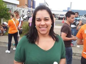 Fabrícia Santos afirmou que a prova estava difícil (Foto: Marcello Carvalho)
