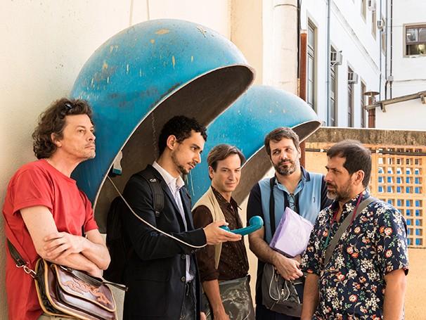 Com Cesar Augusto, Leonardo Netto, Marcelo Olinto, Paulo Verlings e Thierry Trémouroux no elenco (Foto: Vicente de Mello)