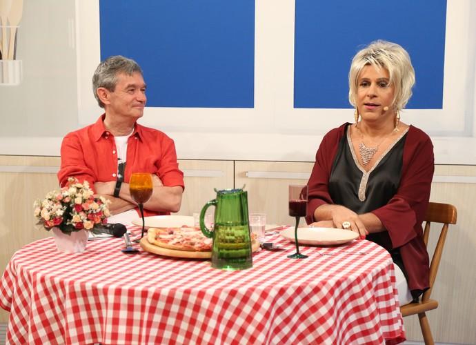 Tom Cavalcante caracterizado como Ana Maria Braga no Altas Horas (Foto: Carol Caminha/Gshow)