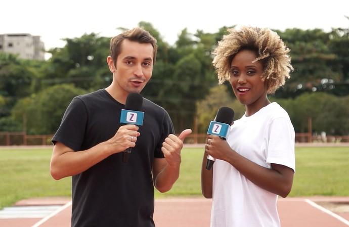 Moa e Jaque disputam 'Olimpiadas do Zap' (Foto: Rede Amazônica)
