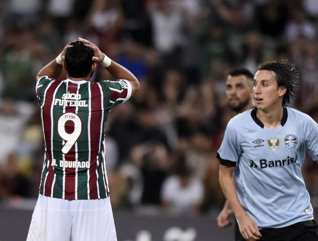 Henrique Dourado Geromel Fluminense x Grêmio Maracanã - Campeonato Brasileiro 2017 7ª Rodada