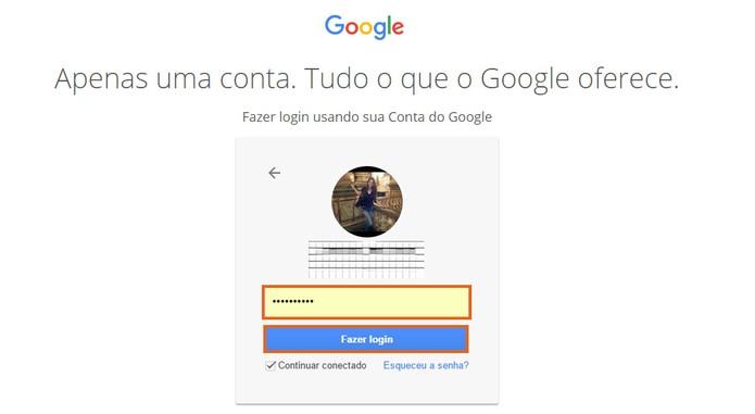 Acesse sua conta do Google pelo PC (Foto: Reprodução/Barbara Mannara)