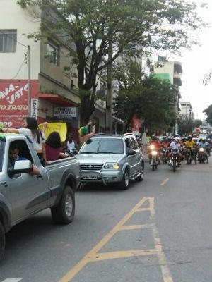 Manifestação Nova Serrana (Foto: Polícia Rodoviária Federal/Divulgação))