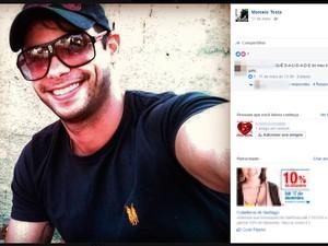 Marcelo Tosta foi morto a tiros dentro de casa de shows em Salvador (Foto: Reprodução/Facebook)