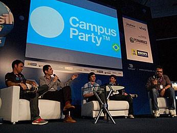 Palestra sobre startups na Campus Party Recife (Foto: Lorena Aquino / G1)