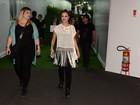Já começou o show! Paolla Oliveira chega apressada ao Rock in Rio
