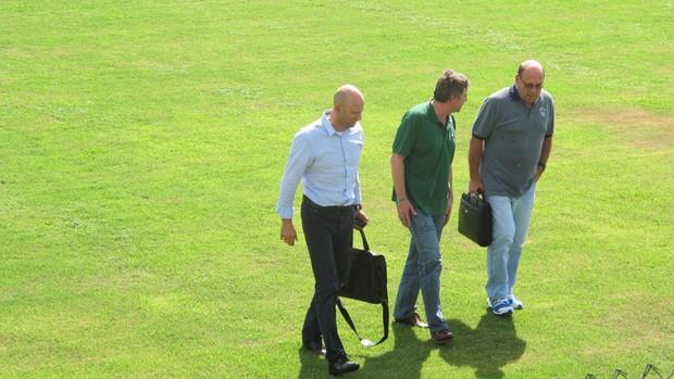 Paulo Nobre, José Carlos Brunoro e Omar Feitosa Palmeiras (Foto: Gustavo Serbonchini)
