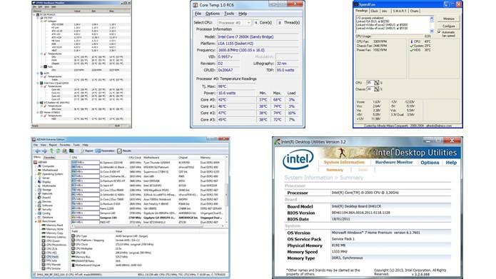 Desenvolvidos para monitorar o funcionamento de componentes do PC, o AIDA64, Core Temp, SpeedFan, HWMonitor ou Intel Desktop Utilities são aplicativos gratuitos e eficientes (Foto: Reprodução/TechTudo)