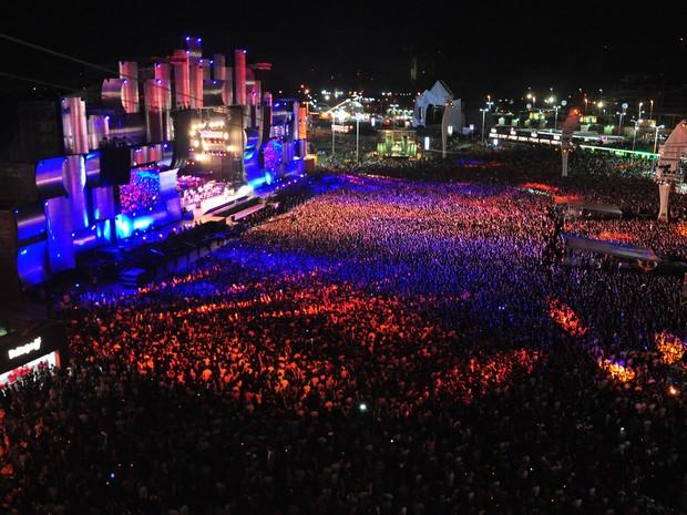 ROCK IN RIO - O evento aconteceu pela primeira vez em janeiro de 1985 em área especialmente construída para receber o evento. Para alguns, foi considerado o Woodstock brasileiro. Ele passou a ser realizado também em Portugal e na Espanha (Foto: Alexandre Macieira / RioTur)