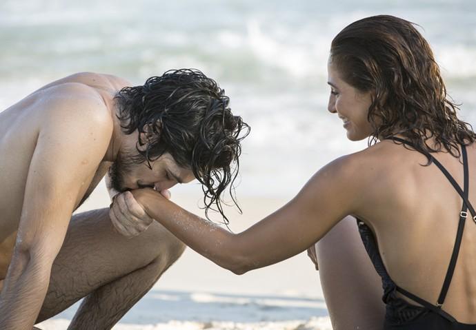 Tereza e Miguel (Foto: Felipe Monteiro/ Gshow)