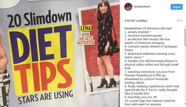 Lena Dunham (Foto: Reprodução/Instagram)