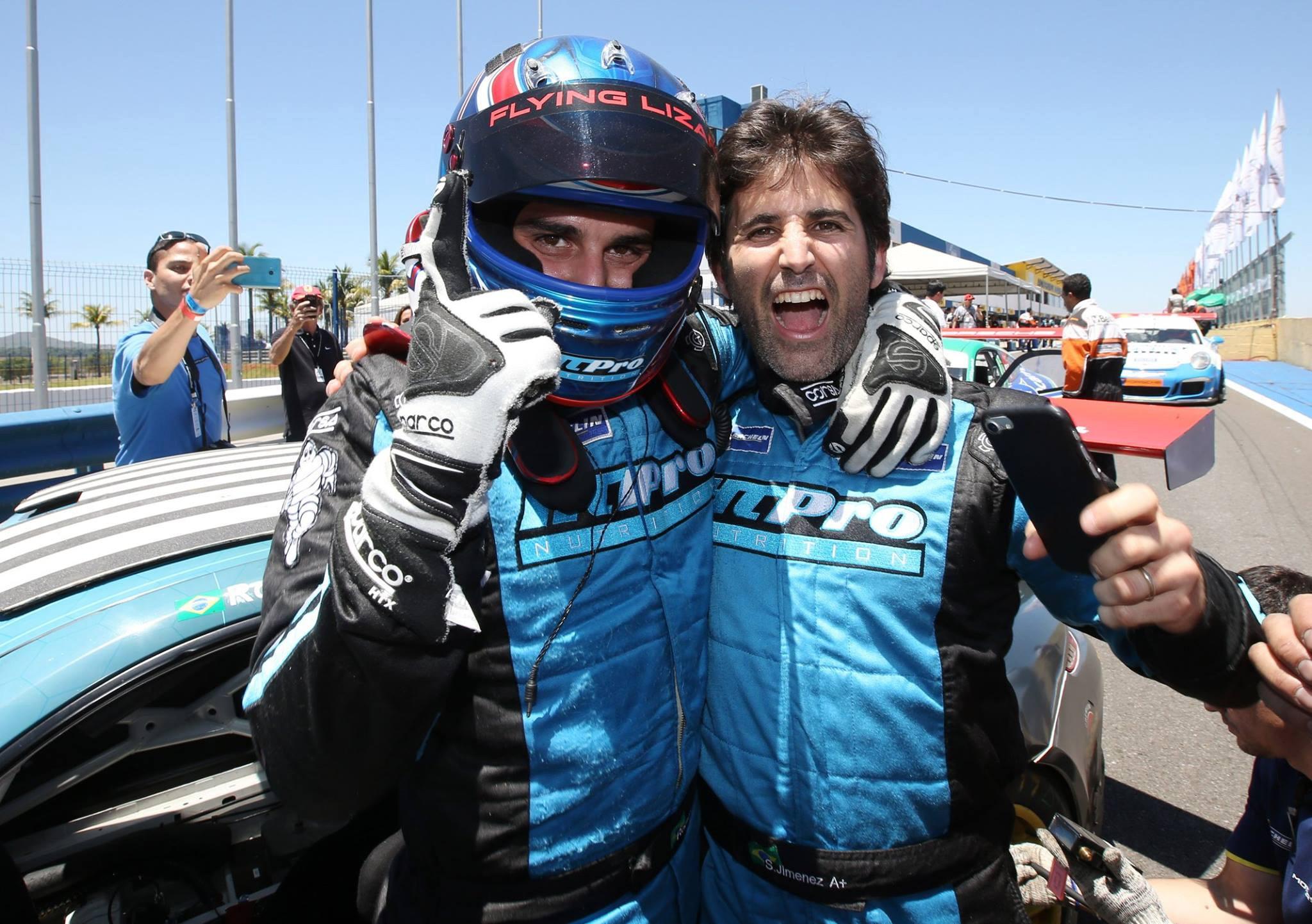 Rodrigo Baptista e Sérgio Jimenez em P1 nos 300 km da Endurance Series em Goiânia (Foto: Divulgação/Luca Bassani/Porsche Império GT3)