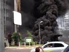 Incêndio atinge hotel na área central de Brasília