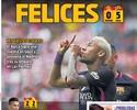 Após goleada do Barça e empate do Real, jornal catalão provoca time de Madrid