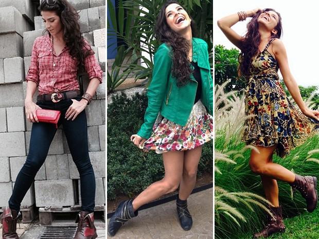 Dani de Lova adora botas e tem sua preferida: o coturno com spikes na parte de trás (Foto: Arquivo Pessoal)