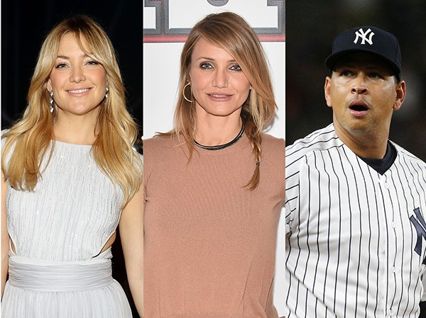 Kate Hudson, Cameron Diaz e Alex Rodriguez (Foto: Getty Images)