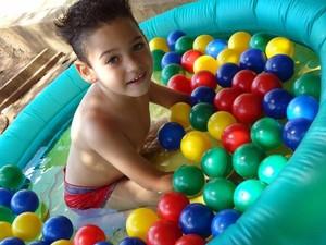Kauan, de 4 anos (Foto: Pamela Trevisan Margutti/Arquivo pessoal )